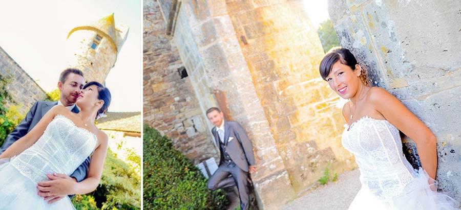photo de mariage dans un château dans la manche en normandie