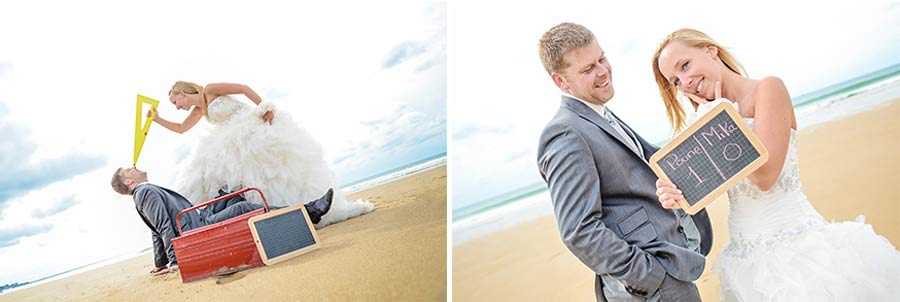 Photo de trash the dress et séance after en Normandie dans la Manche