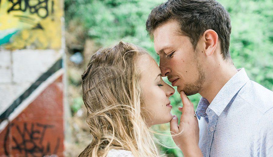 Séance photo connexion en amoureux à cherbourg l'amour fou