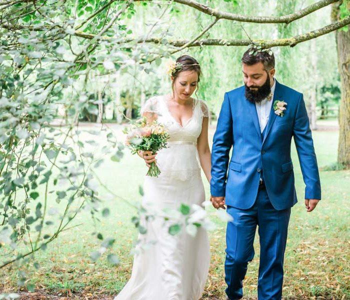 Photographe de mariage champêtre à Lisieux en Normandie