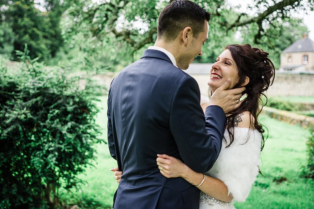 Photo de mariage en normandie pres de cherbourg à gonneville dans la manche